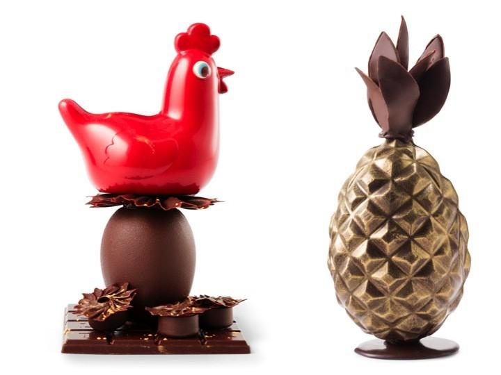 La poulette haut perchée de Lenôtre et l\u0027oeuf ananas de Monoprix , Préparer  Pâques , Sélection chocolatée et idées déco , Toutpourlesfemmes