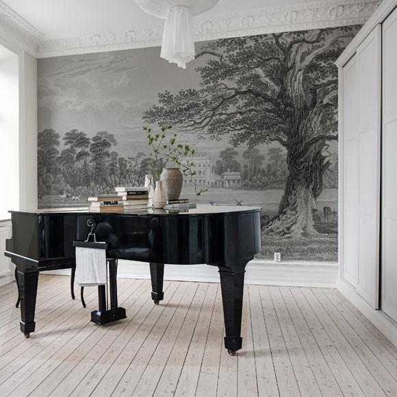 papiers peints et rev tement mural les tendances toutpourlesfemmes. Black Bedroom Furniture Sets. Home Design Ideas