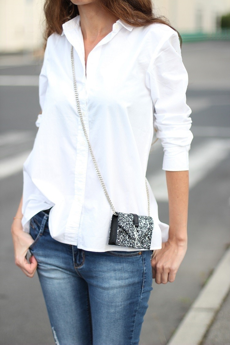 La chemise blanche nos conseils mode - Comment porter une chemise femme ...